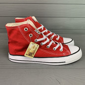 Кеды женские Converse 00073 красные