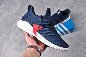 Мужские кроссовки Адидас Bounce 16192 синие