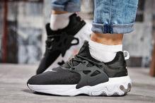 Кроссовки женские Nike React 15445 черные с белым