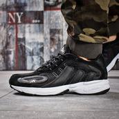 Мужские кроссовки Adidas Galaxy 15915 черные с белым