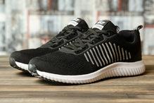 Кроссовки мужские Yike Running 16466 черные с белым