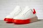 Кроссовки женские Covaleu MkQueen 17162 белые с красным