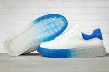 Кроссовки женские Covaleu MkQueen 17163 белые с синим
